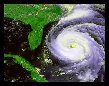 Hurricane Fran, off the SE coast of North America