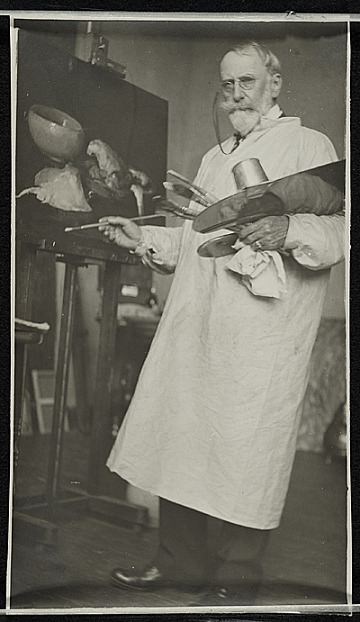 thumbnail image for William Merritt Chase in his studio