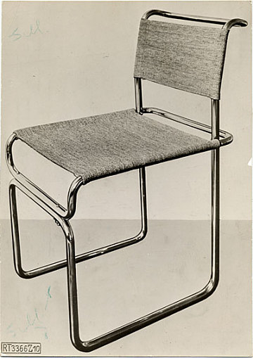 thumbnail image for Tubular steel chair designed by Marcel Breuer