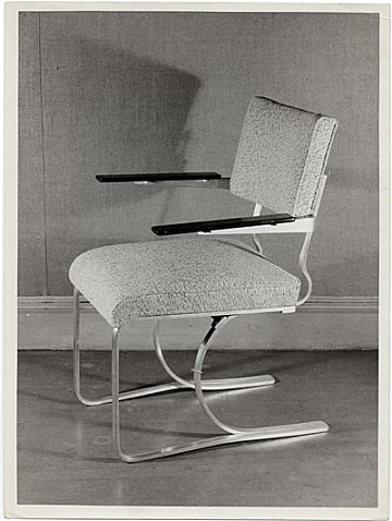 thumbnail image for Aluminum chair designed by Marcel Breuer