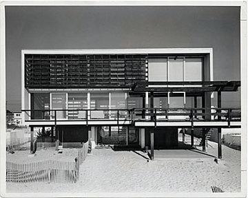 thumbnail image for McMullen Beach House, Mantoloking, New Jersey. Marcel Breuer and Herbert Beckhard, architects. Ben Schnall, photographer