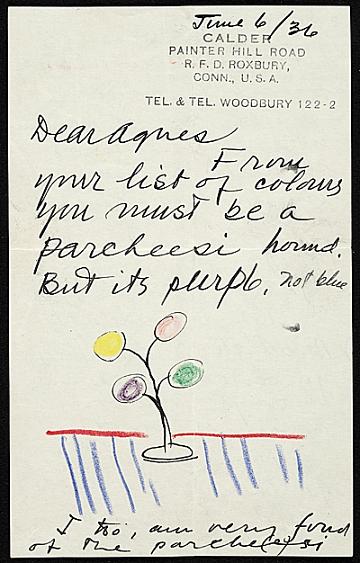 thumbnail image for Agnes Rindge Claflin papers concerning Alexander Calder, 1936-circa 1970s