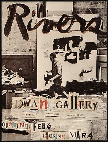 thumbnail image for Dwan Gallery announcement for Larry Rivers exhibition
