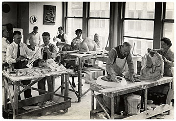 thumbnail image for Sculpture workshop in New York sponsored by the Federal Art Project