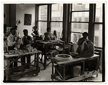 thumbnail image for Sculpture workshop of the Federal Art Project