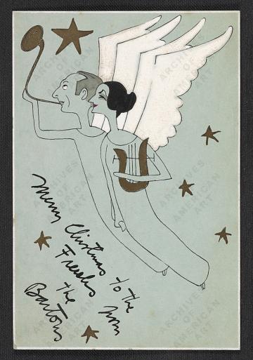 thumbnail image for Ralph Barton Christmas card to Alfred Frueh