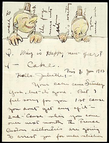 thumbnail image for Alfred Joseph Frueh letter to Giuliette Fanciulli