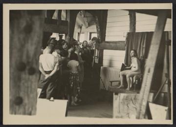 thumbnail image for Hans Hofmann teaching a life class at the Hans Hofmann School of Fine Arts