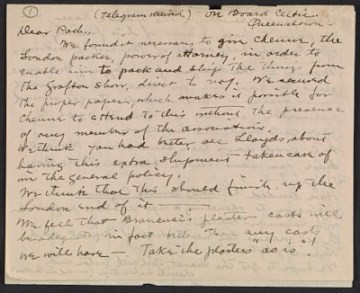 thumbnail image for Walt Kuhn and Arthur Davies letter to Walter Pach
