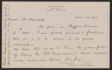thumbnail image for Charles Hovey Pepper letter to Robert W. Macbeth