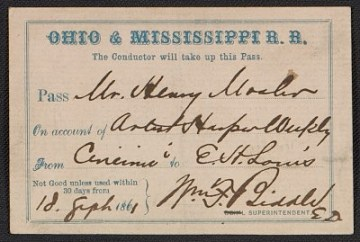 thumbnail image for Ohio & Mississippi rail road pass