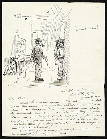 thumbnail image for John Sloan letter to Walter Pach