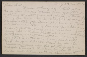 thumbnail image for Morton Schamberg letter to Walter Pach