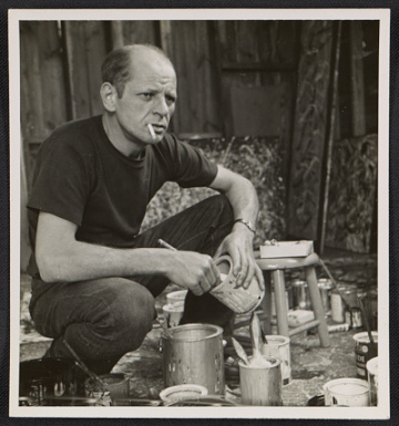 thumbnail image for Jackson Pollock holding a can of paint