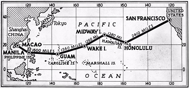 Pan Am Transpacific Route Map