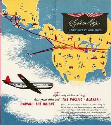 Northwest Airlines Route Map
