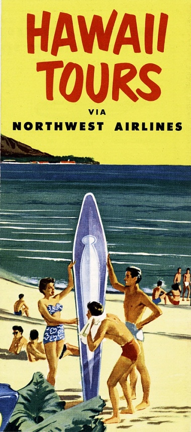 Northwest Airlines Hawaii Brochure, Cover