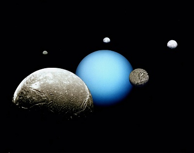 Uranus and it's 5 Major Moons