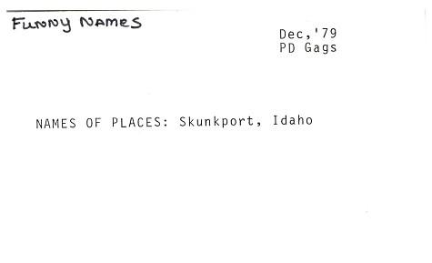 Phyllis Diller Gag File - Drawer No  33, Part 3   Smithsonian