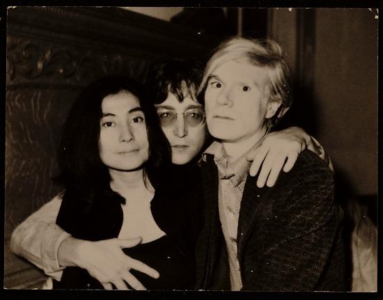 image for Yoko Ono, John Lennon and Andy Warhol