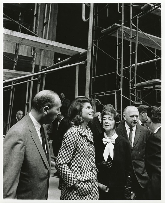 image for Marcel Breuer and Jacqueline Kennedy touring the construction of the Whitney Museum of American Art