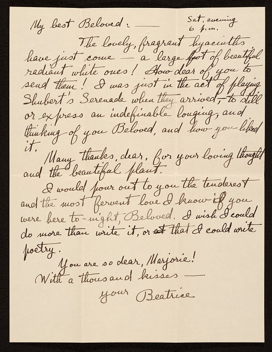 image for Beatrice Fenton letter to Marjorie Martinet