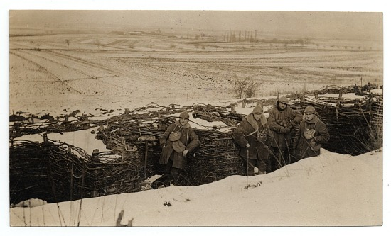 image for WWI soldiers in the trenches