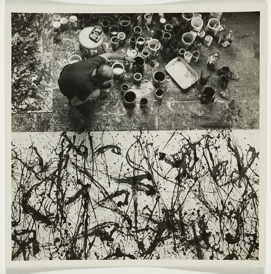 image for Jackson Pollock at work