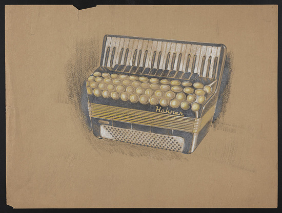 image for Concept drawing of an accordion design for M. Hohner