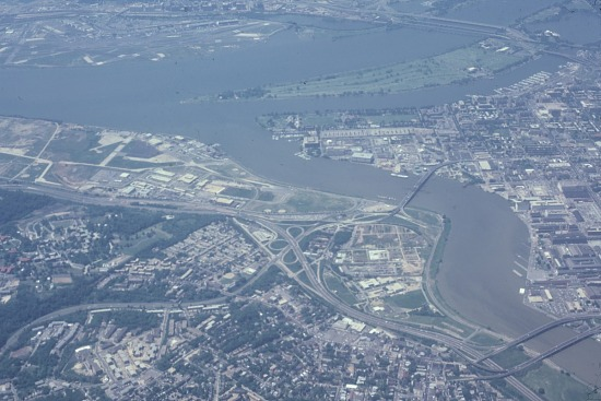 image for Aerial view of Anancostia, Navy Yard
