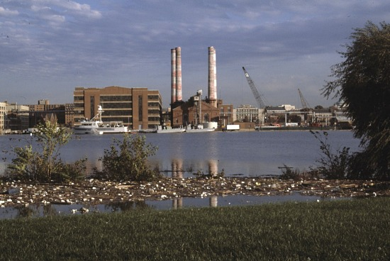 image for View from across the Anacostia River towards the Navy Yard
