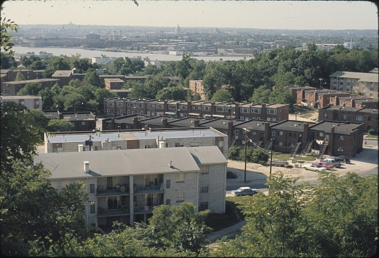 image for Aerial view of Anacostia housing units