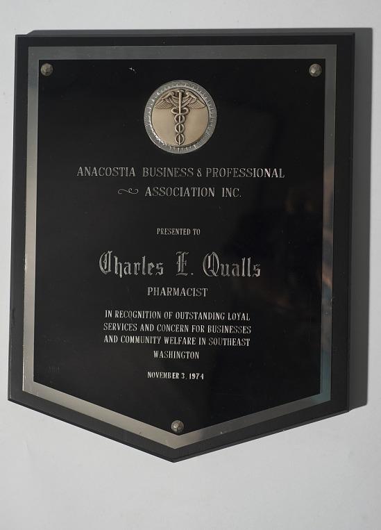 image for Anacostia Business and Professional Association plaque - Nov.3, 1974