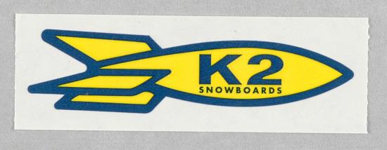 image for K2 Snowboards Rocket Sticker