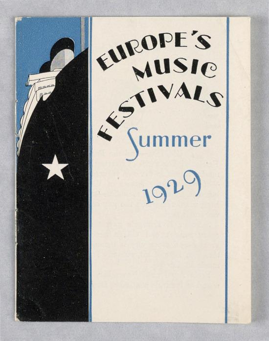image for International Mercantile Marine Co./Europe's Music Festivals/Summer 1929