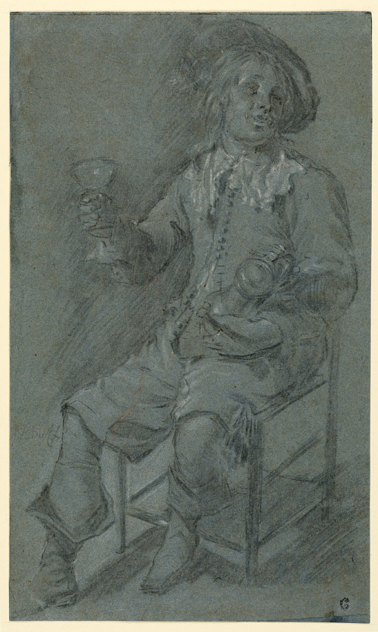 image for Seated Cavalier with Wine Glass