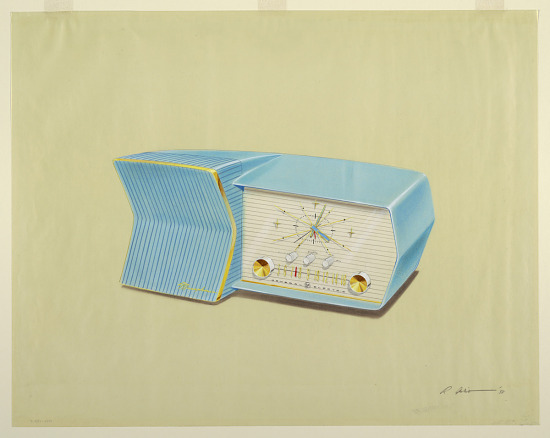 image for Design for Musaphonic Clock Radio in Blue