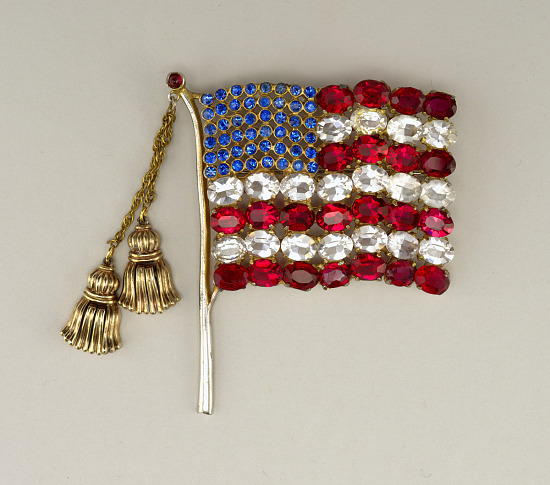 image for Brooch in form of American flag