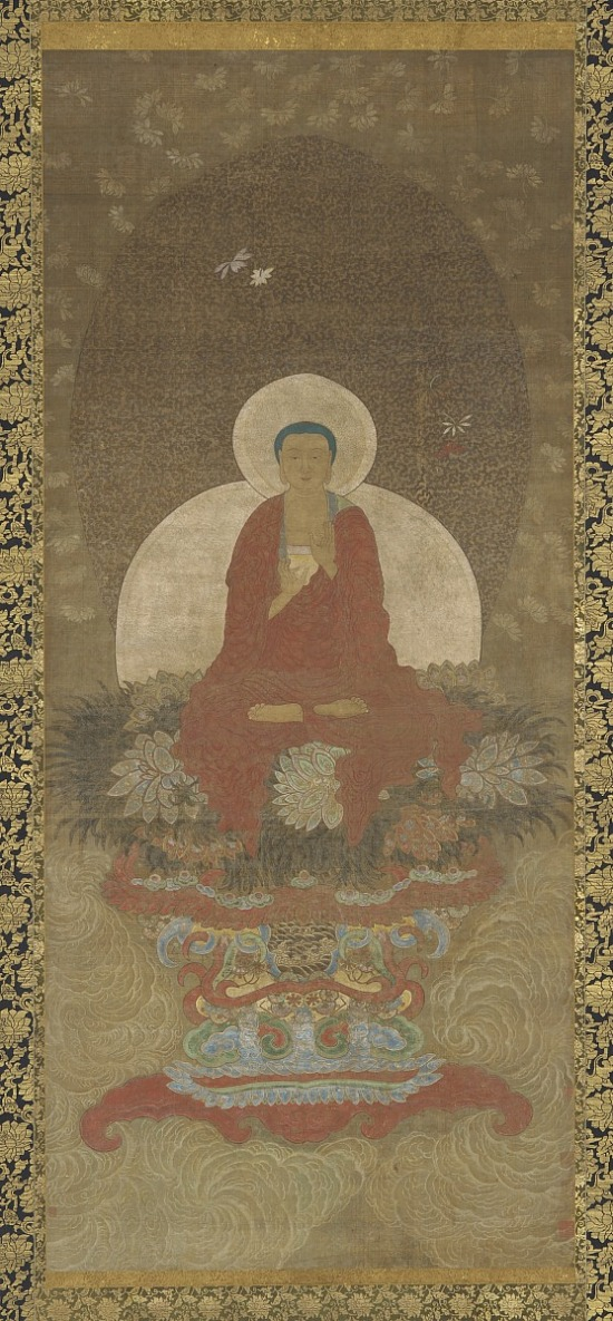 image for Buddha Enthroned on a Mat of Kusa Grass