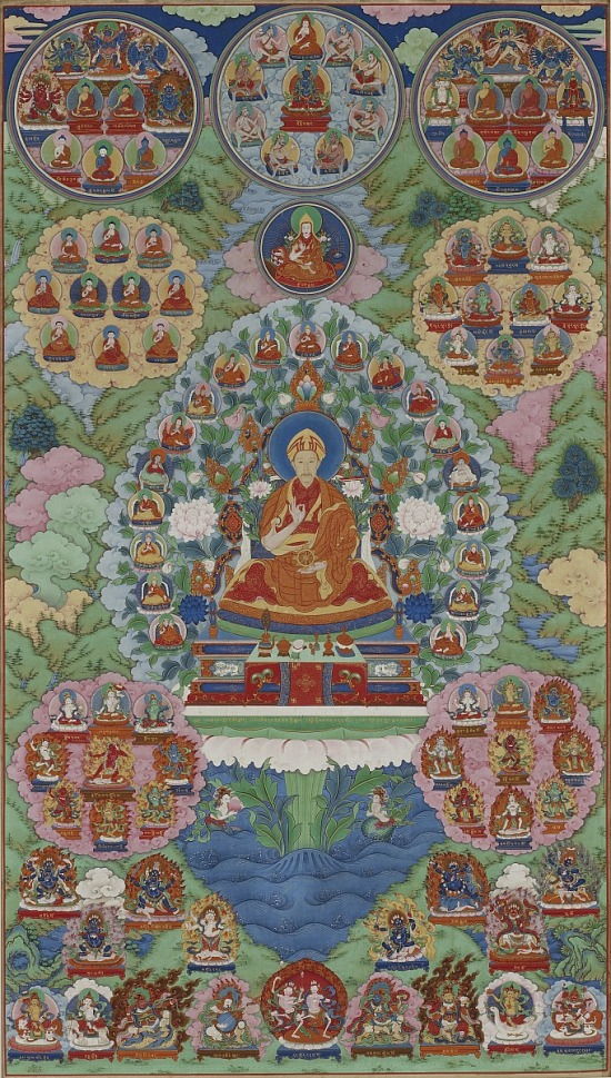 image for The Qianlong Emperor as Manjushri, the Bodhisattva of Wisdom