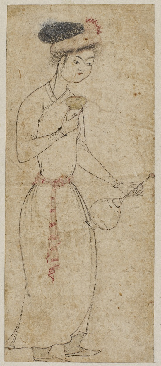 image for Standing figure with wine cup and flask