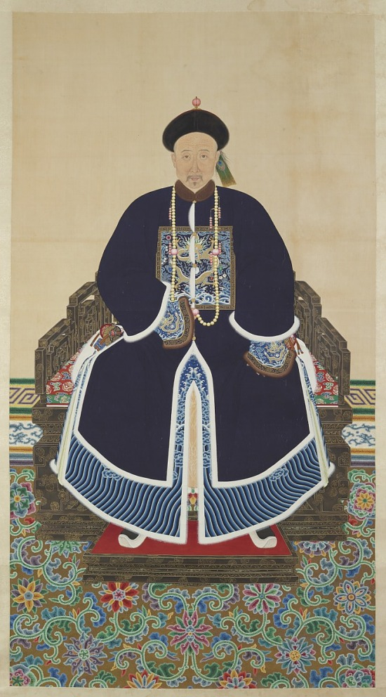 image for Portrait of a Qing Courtier, possibly Jing Shou (d. 1889)
