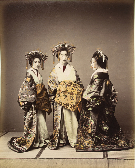 image for Three beautifully dressed women, 1860 - ca. 1900. graphic