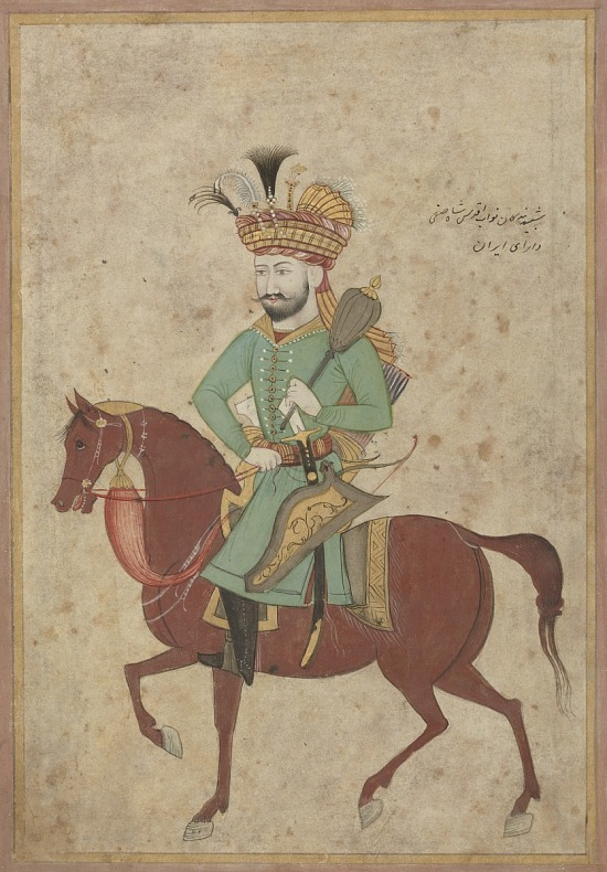 image for Shah Safi I of Persia (reigned 1629-1642) on horseback carrying a mace