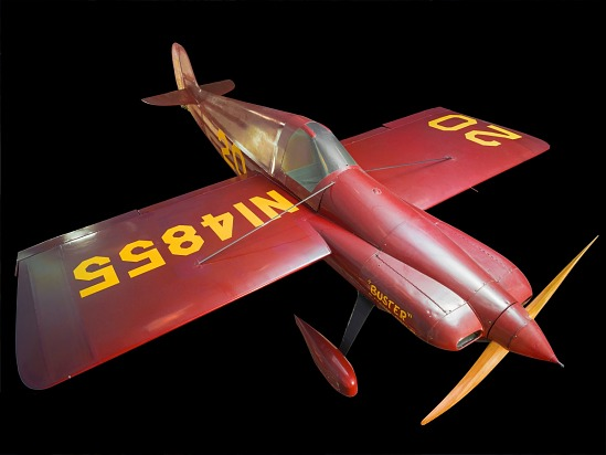 "Top of red Wittman Special 20 ""Buster"" aircraft"