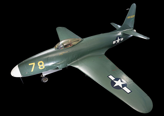 "Green Lockheed XP-80 ""Lulu Belle"" aircraft"