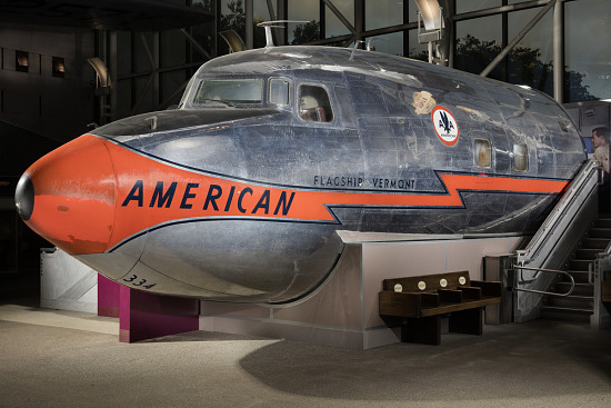 Cutoff of Douglas DC-7 aircraft in museum