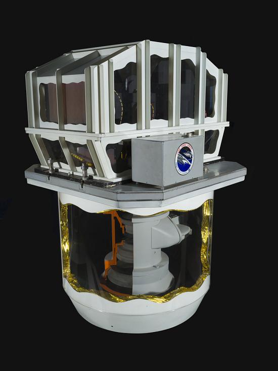 White cylindrical shaped Large Format Sensor Camera Model