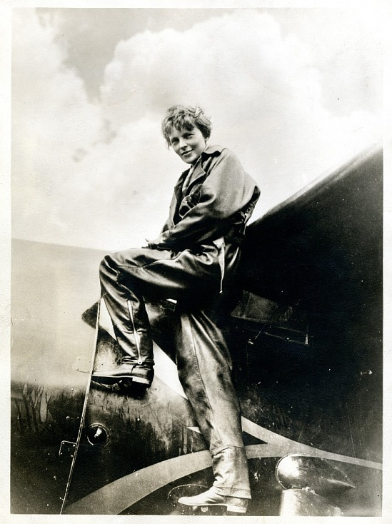 image for Earhart, Amelia Mary; Lockheed Model 5B Vega, Earhart Aircraft, NR7952; Events, 1932, Flights, Transatlantic, Earhart (Amelia) Solo Flight. photograph