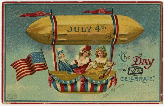 image for Arts, Greeting Cards and Postcards, General; LTA, Arts, Balloons, Balloon ascensions, chromolithograph (Krainik Coll). photograph